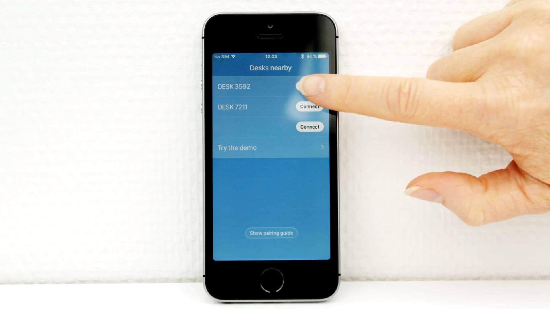 Panel de control de escritorio DPG1M - Cómo emparejarlo a una app