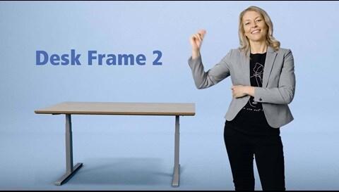 Desk Frame 2: l'intuitivo telaio LINAK® per scrivanie sit- stand