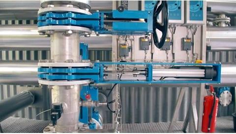 廃水システムに電動シリンダーを採用した実例 - 嫌気性消化処理装置