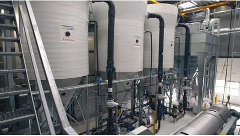 폐수 처리 응용 제품에 사용되는 전동 액추에이터 - 인 회수 (Phosphorous recovery)
