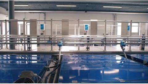 폐수 처리 응용 제품에 사용되는 전동 액추에이터 - Salsnes filters™