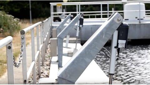 Elektriska ventilrörelser för effektiv hantering av avloppsvatten