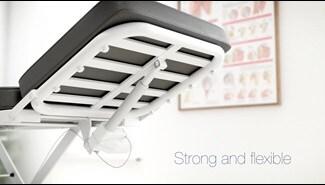 Flexibilidad y un gran diseño para las mesas y camillas de tratamiento regulables