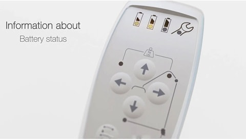 LINAK: 환자 리프트용 핸드 스위치