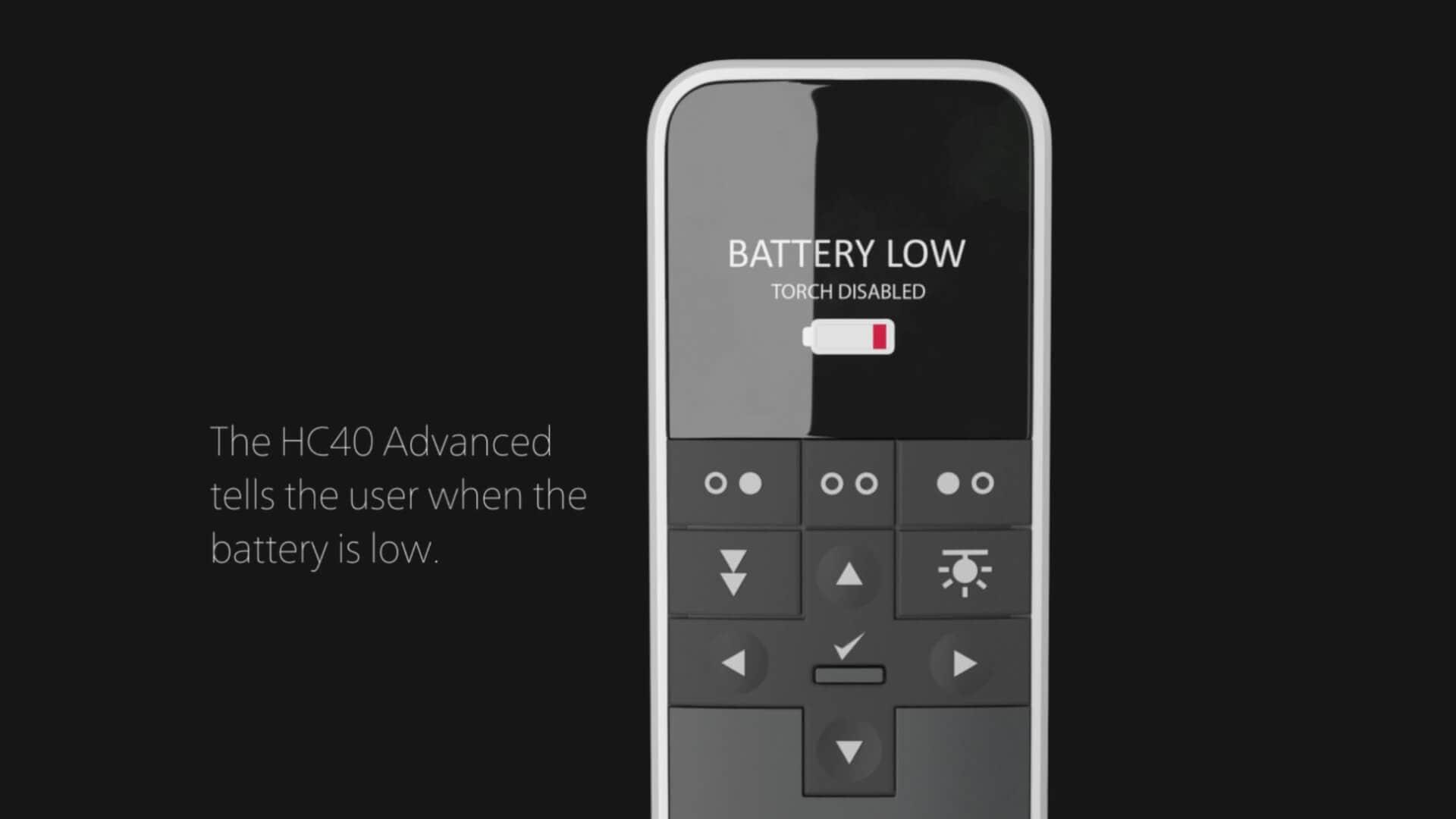 Batterijen vervangen in de HC40