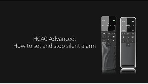 HC40 Advanced - Hvordan stille og stoppe en stillealarm