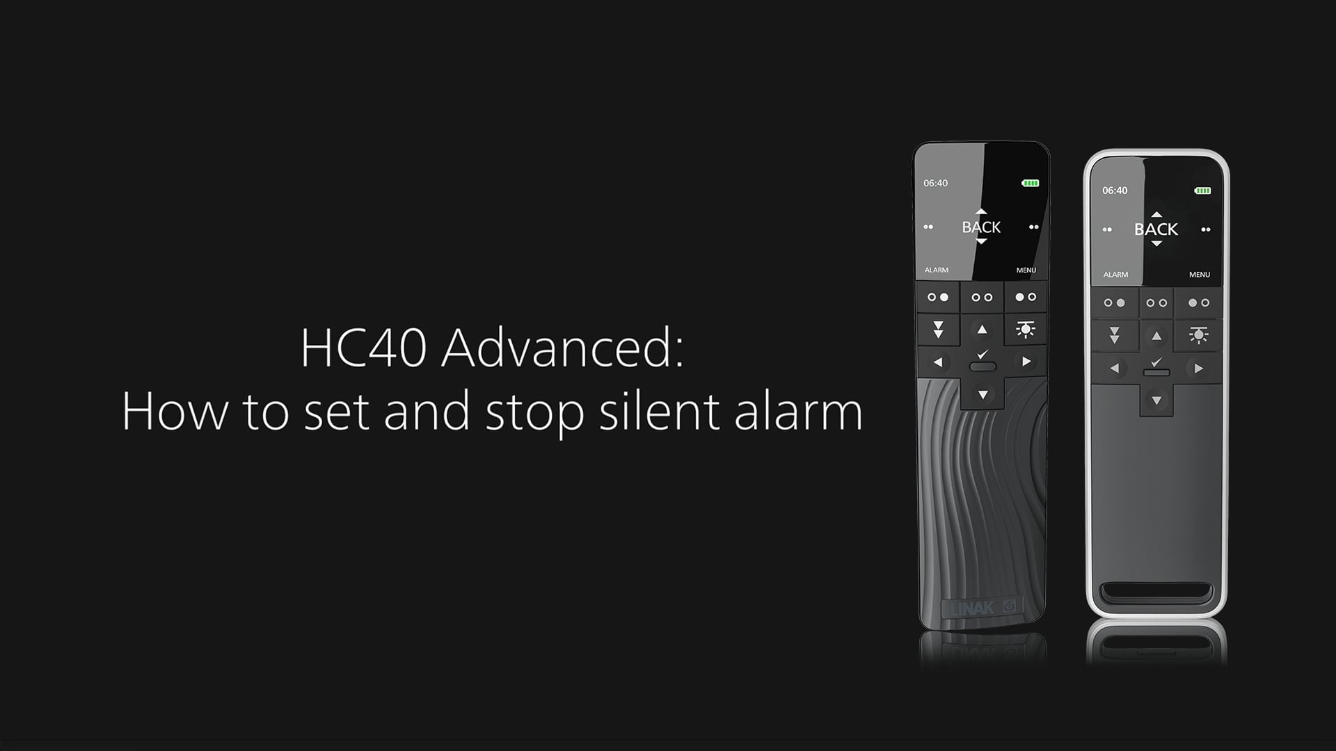 HC40 Advanced - How to set and stop silent alarm