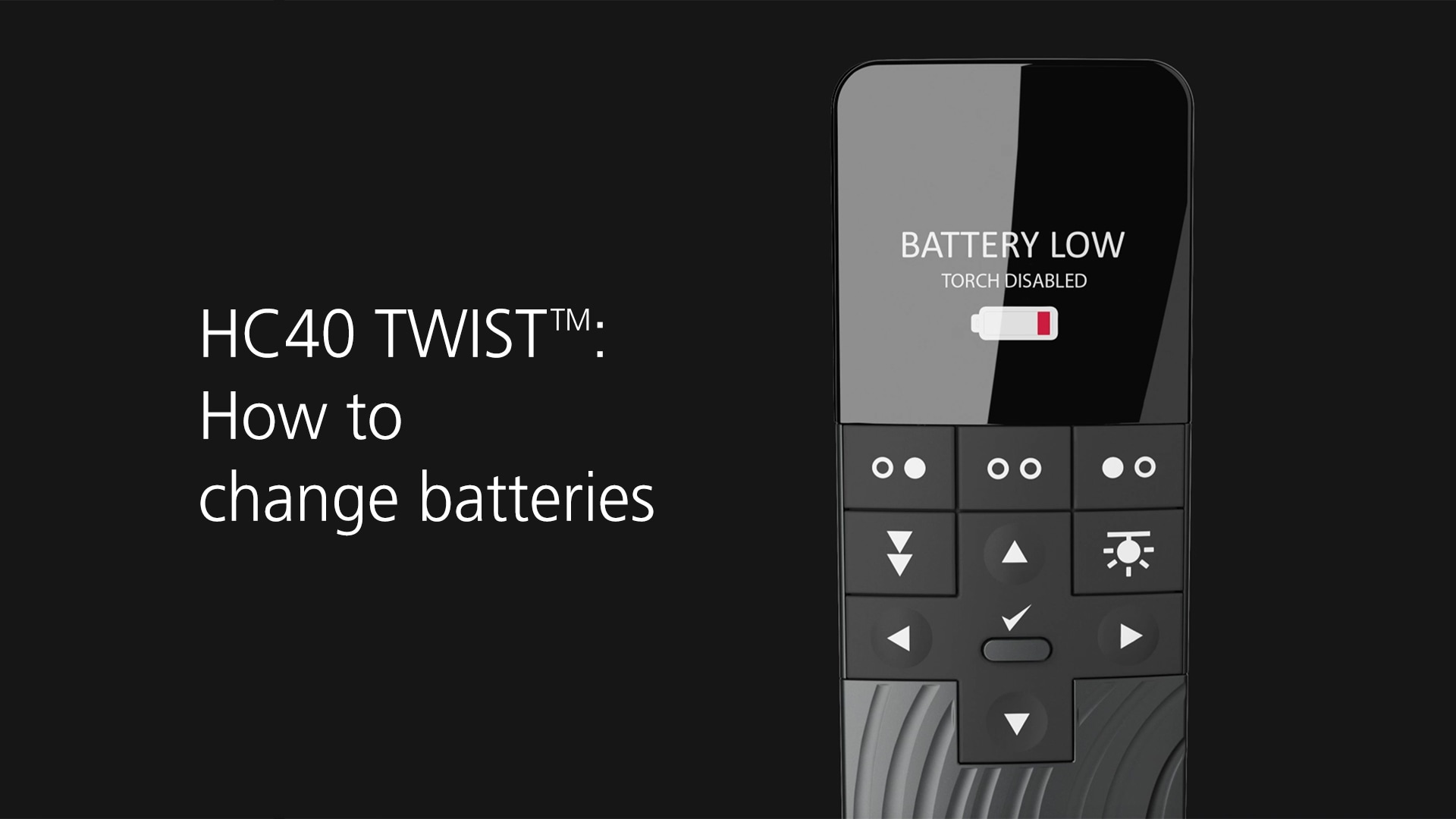Como trocar as pilhas do HC40 TWIST™
