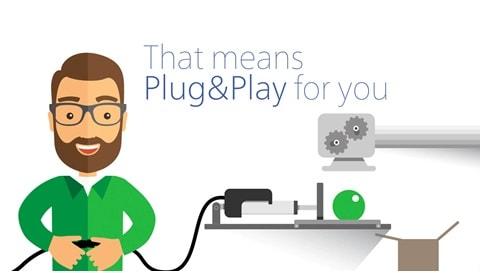 Hvordan du får Plug & Play™-bevegelse for ditt industriutstyr