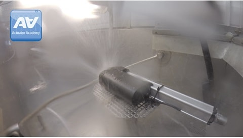Test af tæthedsgrad på elektriske aktuatorer til industriel anvendelse