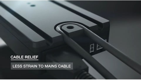 DESKLINE(デスク)®コントロールボックスCBD6Sを含む電動システムを簡単取り付け