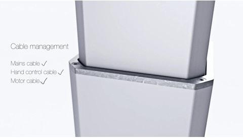 LC3電動昇降装置が垂直昇降の基準を設定