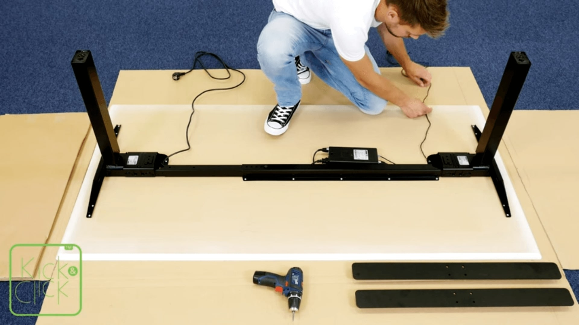 LINAK Kick & Click - How to easily assemble an office desk