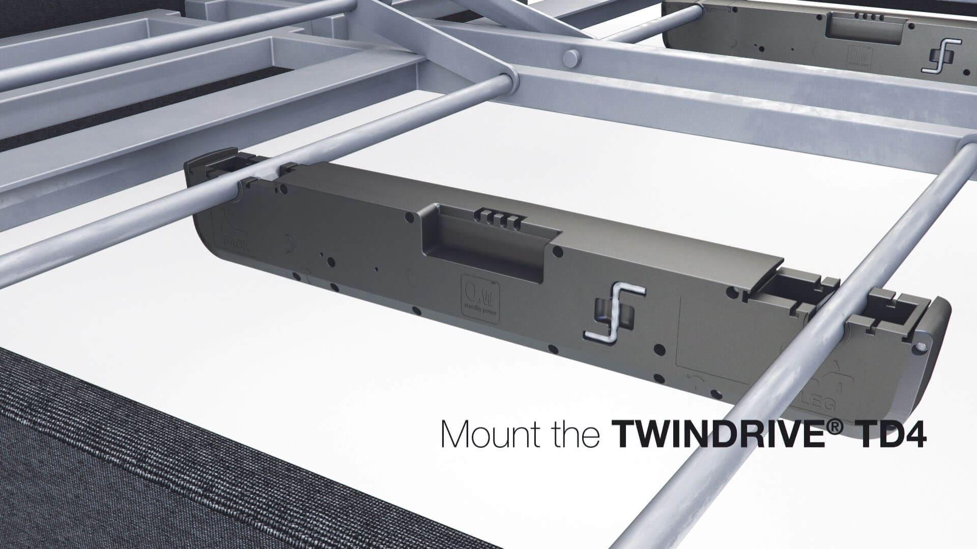 Montaż siłownika LINAK TWINDRIVE® TD4