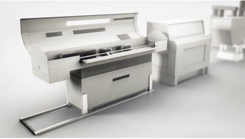 LINAKのシリンダー ソリューション - 自動バーフィーダーでスムーズで賢い処理作業