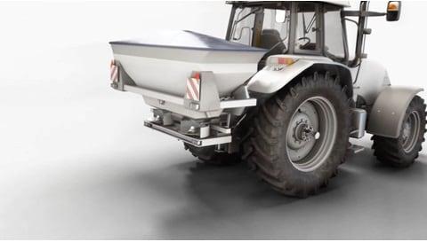 電動シリンダー ソリューション -- 肥料散布機での正確な散布量により作物収量が増加