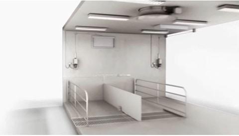 Elektrische Linearantriebslösung – Stufenlose Einstellung von Stalllüftungsanlagen