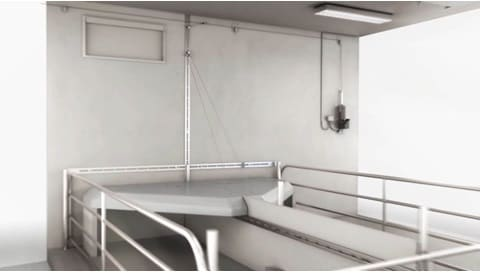 LINAK electric actuators - automated covers for temperature regulation in stables