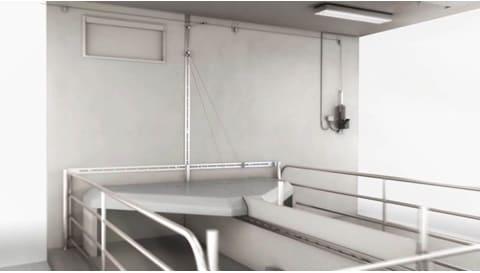 LINAK elektriske aktuatorer - automatisk dæksel til temperaturregulering i staldbygninger