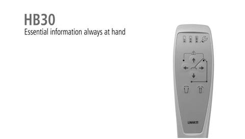 Nuevo mando de control ergonómico HB30 de LINAK para grúas de pacientes