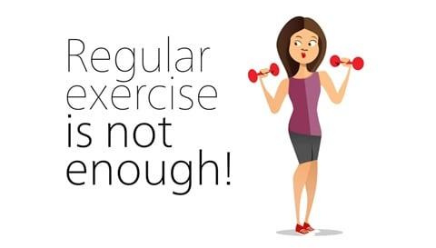 Regelmatige lichaamsbeweging is niet voldoende