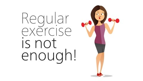 Düzenli olarak egzersiz yapmak yeterli değildir