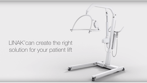 Safe patient handling with system solutions from LINAK for electric patient lifts