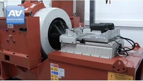 산업용 전동 액추에이터의 충격 테스트