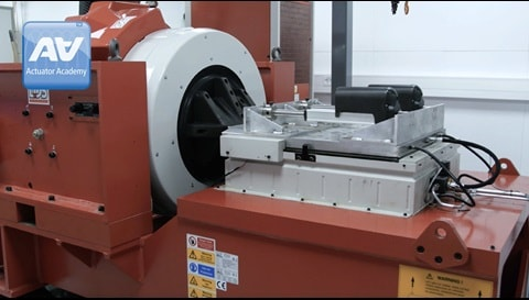 Shock testing electric actuators for industrial use