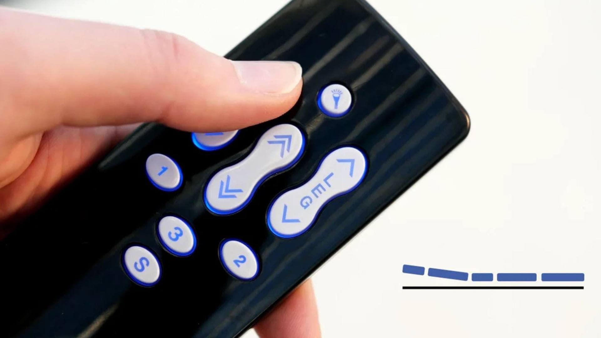 LINAK® 핸드 스위치에 전동 침대의 자세를 저장합니다